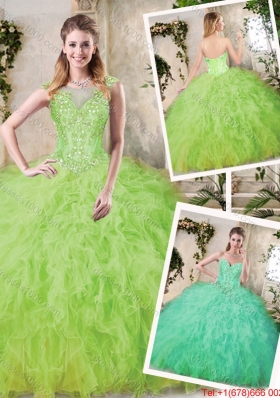 Modest Sweetheart Sweet 16 Dresses with Appliques and Ruffles