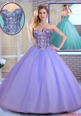 2016 Elegant Ball Gown Sweetheart Quinceanera Gowns with Beading