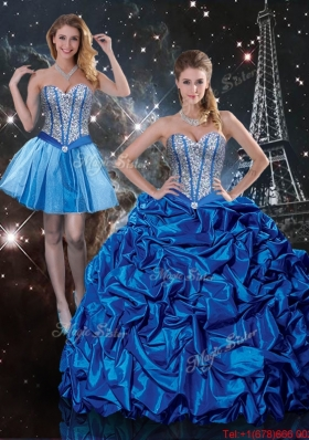 2016 Summer Beautiful Sweetheart Detachable Quinceanera Dresses with Beading and Pick Ups