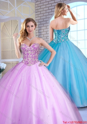 Cheap Ball Gown Beading Quinceanera Gowns with Sweetheart