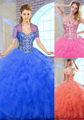 Fashionable Classical Floor Length Quinceanera Dresses with Beading for 2016