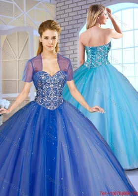 Perfect Ball Gown Sweet 16 Dresses with Beading for 2016