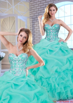 Popular Beading and Ruffles Sweet 16 Dresses with Sweetheart