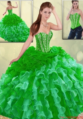 2016 Gorgeous Multi Color Quinceanera Dresses with Brush Train