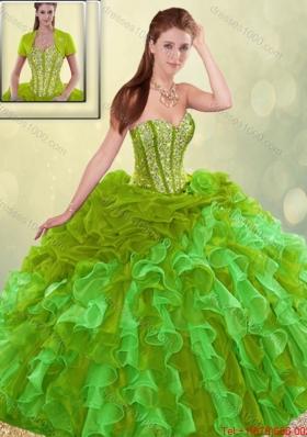 2016 Perfect Brush Train Sweet 16 Dresses in Multi Color