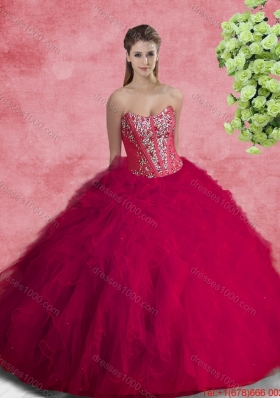 2016 Pretty Quinceanera Dresses with Beading and Ruffles
