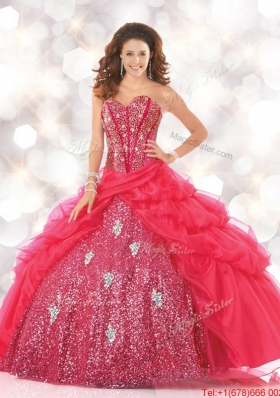2016 Sturning Sweetheart Sweet 16 Dresses with Sequins and Beading