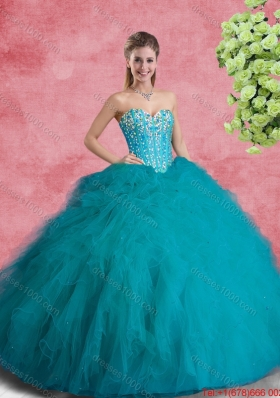 Classical Beaded Sweetheart Quinceanera Dresses with Ruffles