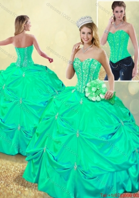 DBeautiful Beading and Pick Ups Detachable Quinceanera Dresses with Lace Up