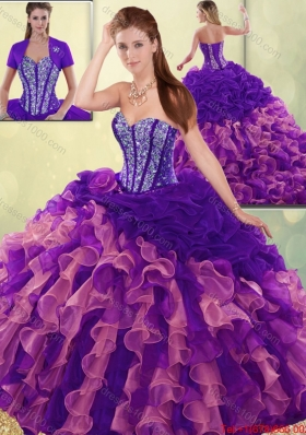Elegant Beading and Ruffles Quinceanera Dresses with Sweetheart