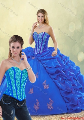 New Style Sweetheart Detachable Quinceanera Gowns with Beading and Appliques