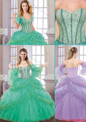 New Style Sweetheart Quinceanera Gowns with Hand Made Flowers