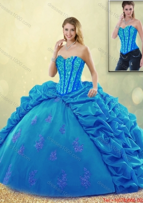 Popular Ball Gown Beading Quinceanera Dresses with Pick Ups