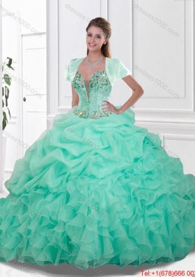 Beautiful Sweetheart Quinceanera Gowns with Beading and Ruffles