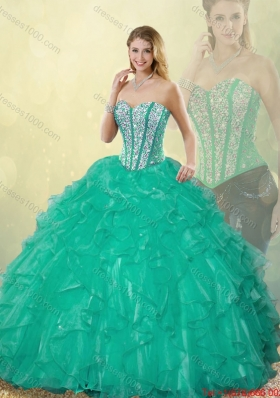2015 Fall New Style Sweetheart Detachable Quinceanera Dresses with Floor Length