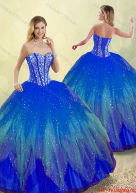Popular 2016 Sweetheart Quinceanera Gowns with Beading