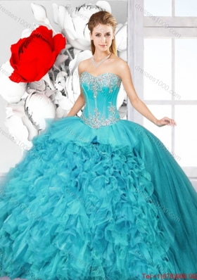 Hot Sale Ball Gown Sweet 16 Gowns with Beading and Ruffles