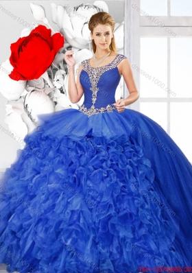 New Arrivals Scoop Quinceanera Dresses with Side Zipper