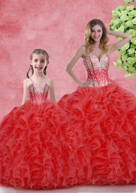 Cheap Ball Gown Sweetheart Princesita With Quinceanera Dresses with in Red