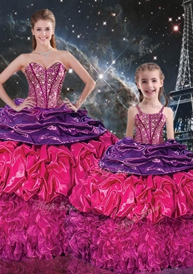 Gorgeous Sweetheart Princesita With Quinceanera Dresses with Ruffles and Pick Ups
