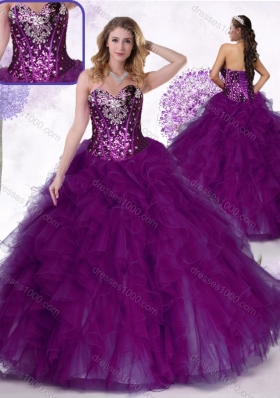 Inexpensive Ball Gown Quinceanera Dresses with Ruffles and Sequins
