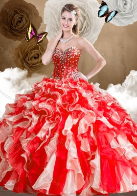 Low Price Sweetheart Multi Color Quinceanera Dresses with Ruffles