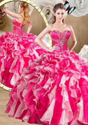 New Arrivals Sweetheart Multi Color Quinceanera Gowns with Ruffles
