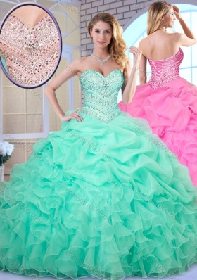 Beautiful Ball Gown Beading and Pick Ups Quinceanera Dresses
