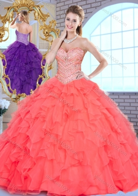 Beautiful Ball Gown Beading and Ruffles Quinceanera Gowns