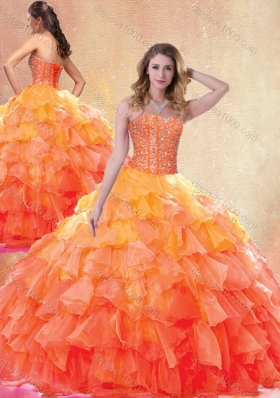 Beautiful Ball Gown Quinceanera Gowns with Beading and Ruffles
