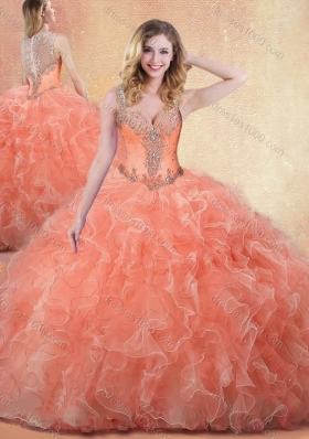 Best Straps Ball Gown Quinceanera Dresses with Ruffles and Appliques
