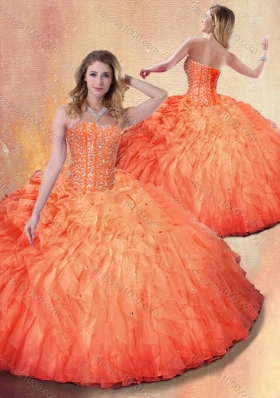 Wonderful Ball Gown Beading and Ruffles Sweet 16 Dresses