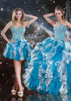 2016 Pretty Sweetheart Multi Color Detachable Quinceanera Gowns  with Beading