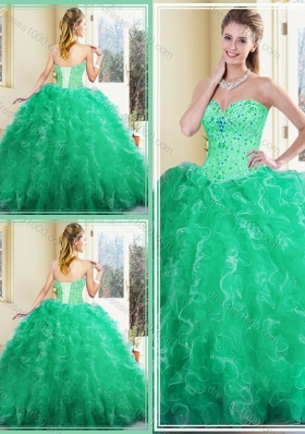 Beautiful Sweetheart Ball Gown Quinceanera Dresses with Ruffles