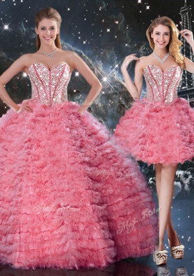 Beautiful Sweetheart Detachable Quinceanera Gowns for 2016