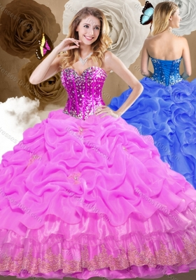 Best Ball Gown Sweet 16 Dresses with Beading and Pick Ups