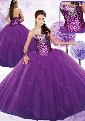 Discount Ball Gown Quinceanera Dresses with Beading and Sequins