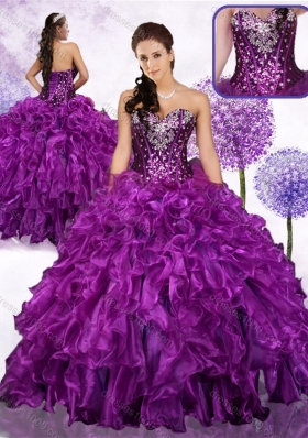 Fashionable Ball Gown Sweet 16 Dresses with Ruffles and Sequins