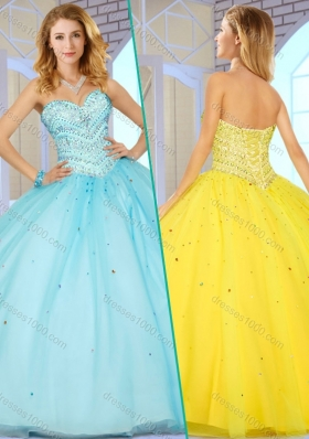 New Style Sweetheart Quinceanera Dresses with Beading for 2016