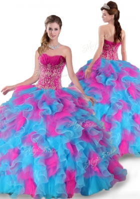 Pretty Sweetheart Beading and Ruffles Quinceanera Dresses