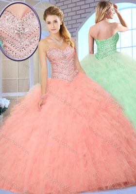 Wonderful Ball Gown Quinceanera Dresses with Beading and Ruffles