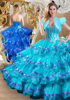 2016 Perfect Ball Gown Sweet 16 Dresses with Ruffled Layers