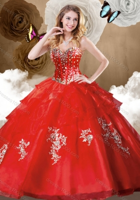 Discount Ball Gown Quinceanera Dresses with Beading and Appliques
