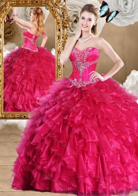Fashionable Sweetheart Sweet 16 Dresses with Beading and Ruffles