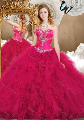 Inexpensive Sweetheart Ball Gown Quinceanera Gowns with Ruffles