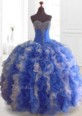 2016 Modest Beading and Ruffles Multi Color Quinceanera Dresses