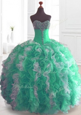 Cheap Ball Gown Sweet 16 Dresses with Beading and Ruffles