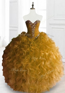 Exclusive Ball Gown Sweet 16 Dresses with Beading and Ruffles