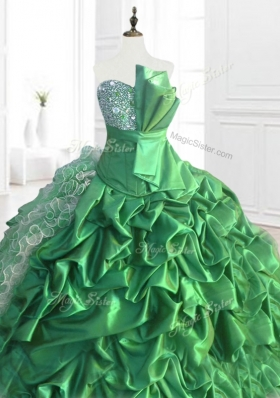 New Arrivals Sequins and Ruffles Quinceanera Dresses with Pick Ups