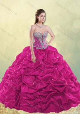 2016 Gorgeous Really Puffy Beaded and Bubble Quinceanera Dress in Taffeta